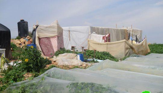 إخطار بالهدم يطال 4 عرائش سكنية في قرية بردلة