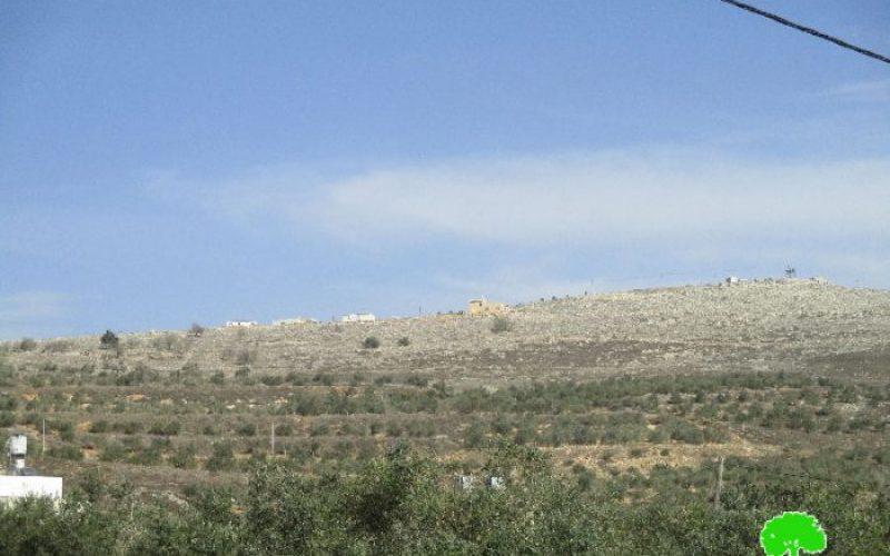 إخطار بتمديد سريان مصادرة أربع دونمات من قرية عصيرة القبلية