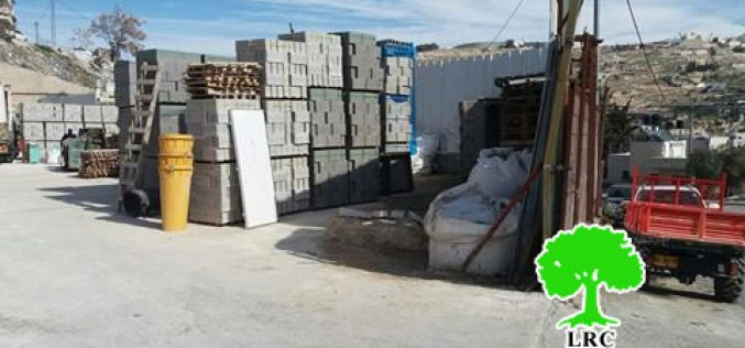 Israel Municipality in Jerusalem forces Sarri family to self-demolish their commercial stores