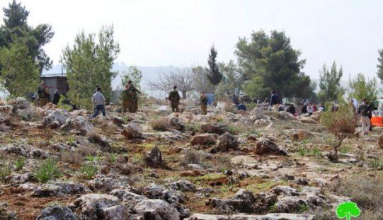 الاحتلال يمنع المزارعين من زراعة أراضيهم شرق بلدة ترقوميا