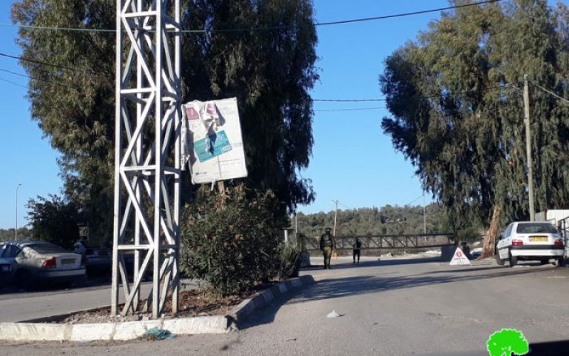 Israeli Occupation Forces seal off the entrance of Azzun village, east Qalqiliya governorate