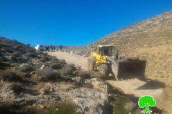 الاحتلال يجرف طريقاً زراعياً شرق بني نعيم