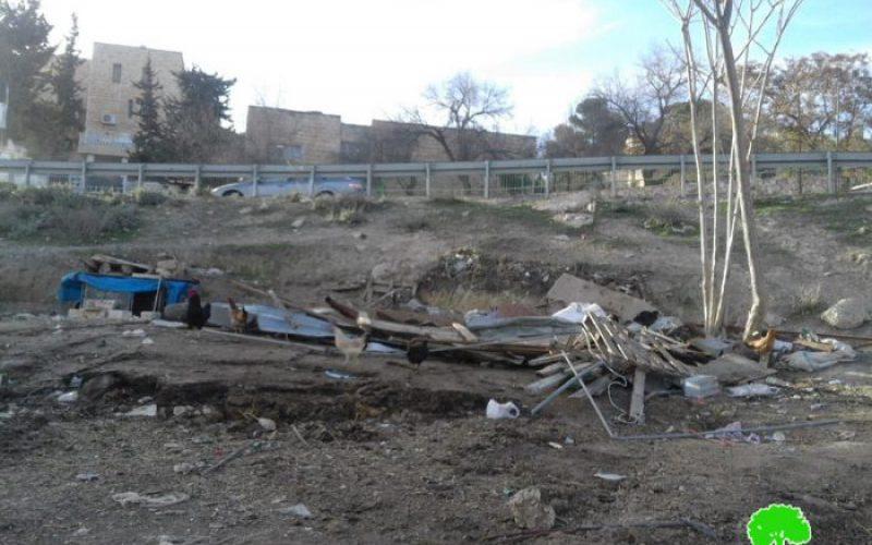 بلدية الاحتلال تهدم حظيرة لتربية المواشي والأغنام في جبل المكبر