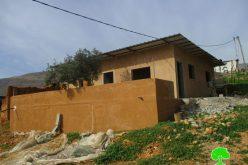 اخطارات بوقف البناء تطال 4 منشآت سكنية وزراعية في قرية فروش بيت دجن