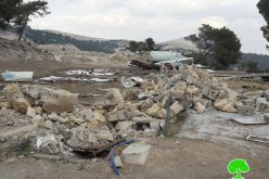 Israeli Occupation Forces demolish structures in Al-Eizariya town