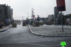 جيش الاحتلال الاسرائيلي يغلق مدخل قرية حزما الغربي
