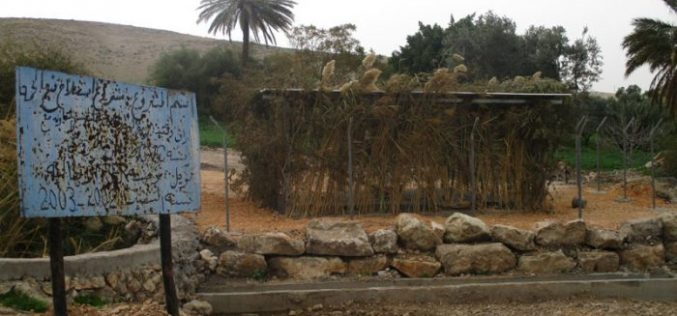 Stop-work order on Al-Himmeh spring rehabilitation works in the Palestinian Jordan Valley