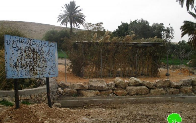 Stop-work order on Al-Himmeh spring rehabilitation works in the Palestinian Jordan Valley