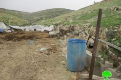 Israeli Occupation Forces demolish agricultural structure east of Tubas governorate