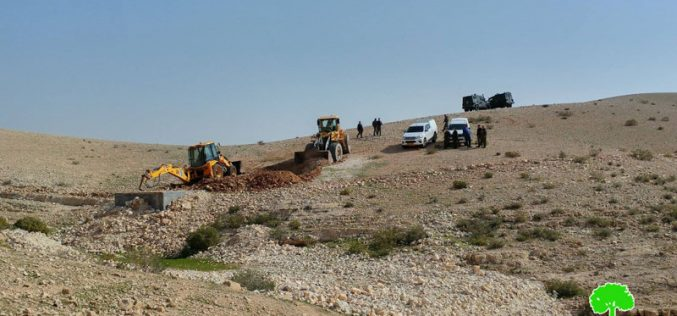 الاحتلال يهدم بئر مياه في خشم الدرج شرق يطا