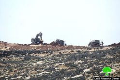 Israeli occupation dozers ravage lands in Hebron town of Sa'ir