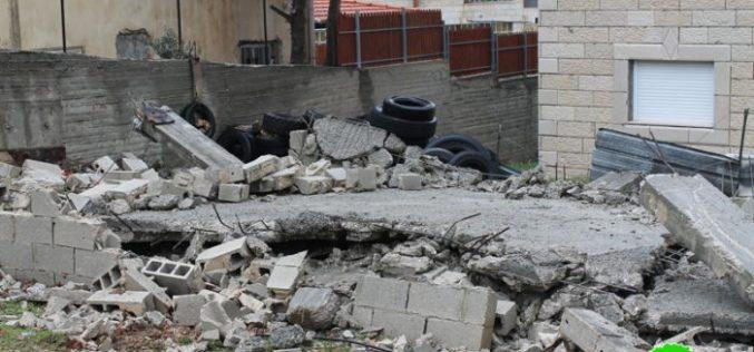 Israeli Occupation Forces demolish under construction home north Jerusalem