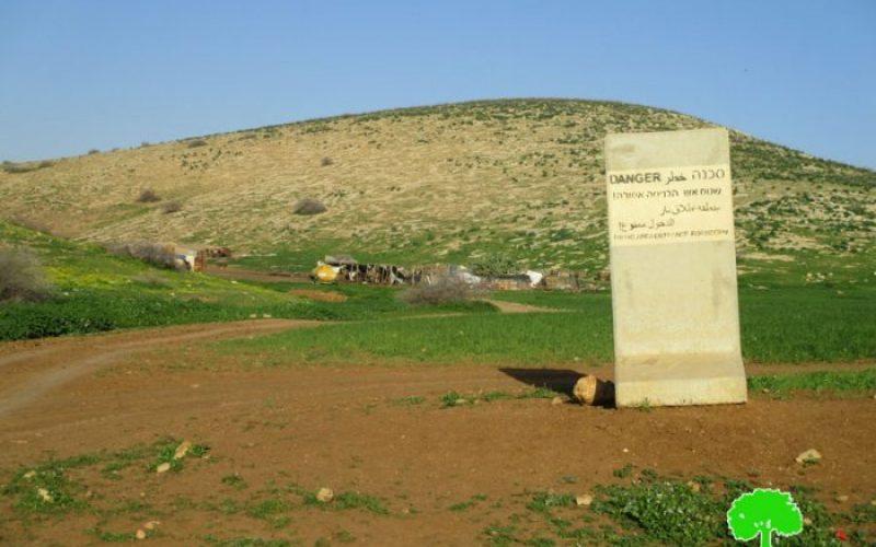 """مستعمرو """"سلعيت"""" يعتدون على التجمع البدوي في خربة الحمة بمحافظة طوباس"""