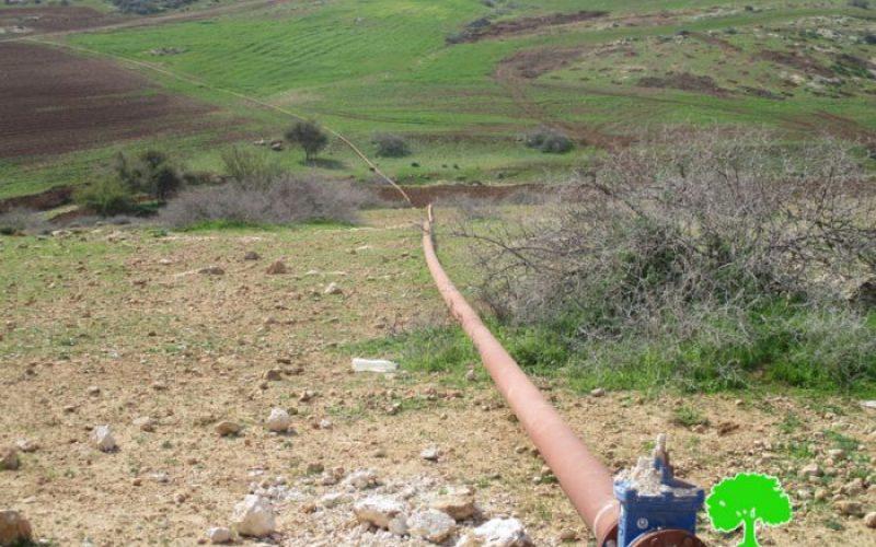 إخطار بوقف البناء لخط مائي ناقل بطول 5كم في قرية بردلة