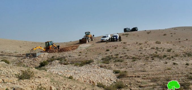 Israeli Occupation Forces demolish water well in Hebron town of Yatta