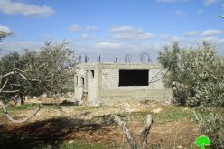 Israeli Occupation Forces notify residences of stop-work in the Salfit town of Kfar Ad-Dik