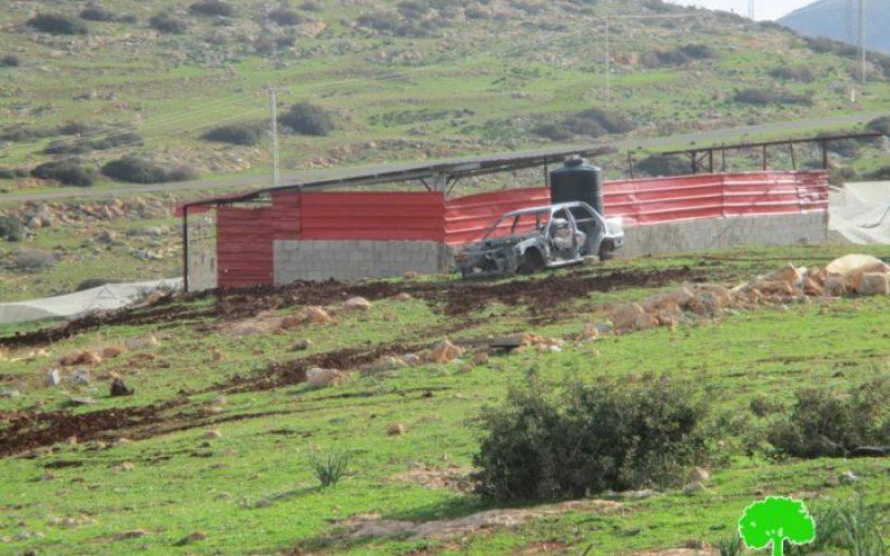 إخطارات بوقف البناء والهدم لمنشآت زراعية في الأغوار الشمالية