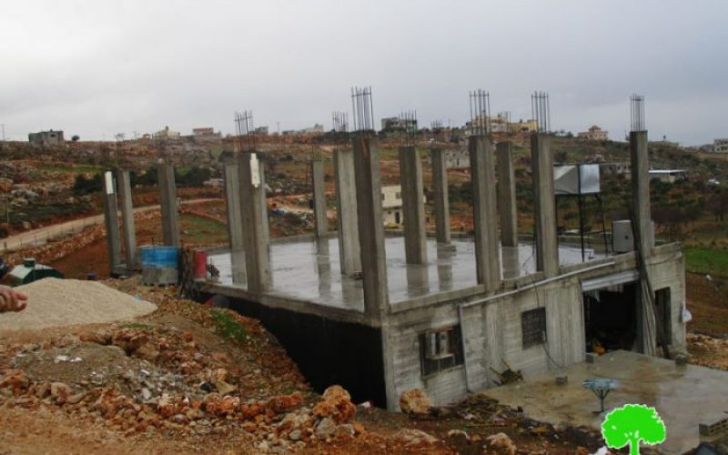 Israeli Occupation Forces notify structures of Stop-Work in Nablus governorate