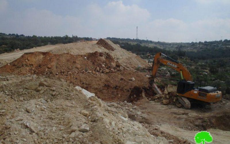اقتلع 1135 شجرة مثمرة,طريق استعماري آخر شرق النبي الياس يحكم الطوق على قلقيلية