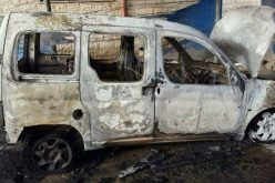 Israeli colonists set a vehicle ablaze in Nablus city