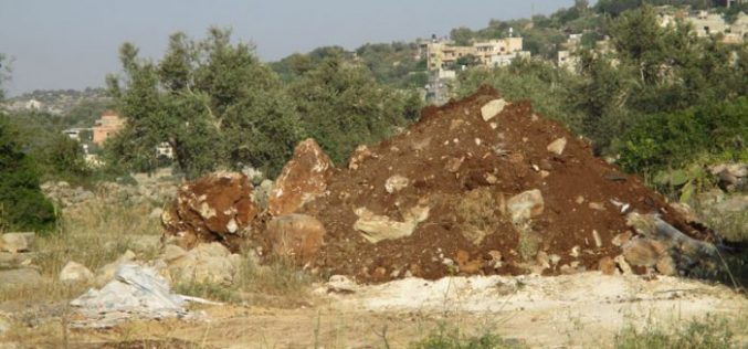 Israeli Occupation Forces close agricultural road west Haris village in Salfit governorate