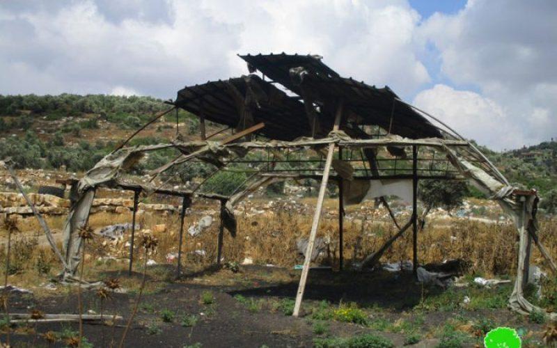إحراق بركس زراعي على يد المستعمرين في قرية برقة