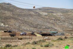 إخطار بهدم مسكن وخيمة زراعية في قرية الجفتلك