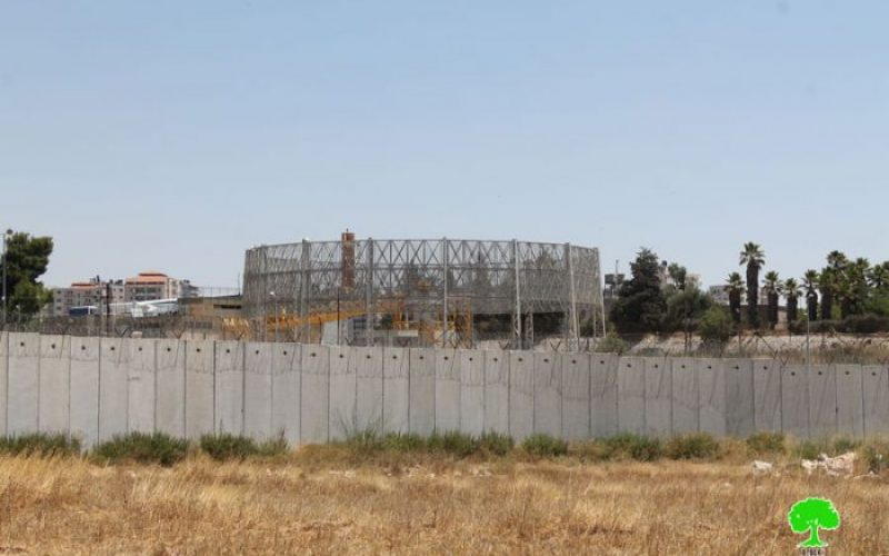 An Israeli plan to build 10,000 residential units on lands of Qalandiya town, north Jerusalem city