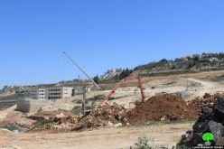 Israeli Occupation Forces close a main road east Nahhalin village in Bethlehem