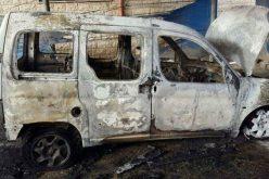 إحراق سيارة فلسطينية على يد المستعمرين في بلدة حوارة