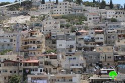 Leaking a Palestinian building for a settlement association in Silwan neighborhood in Jerusalem