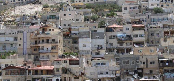 Leaking a Palestinian building for a settlement association in Silwan neighborhood in Jerusalem