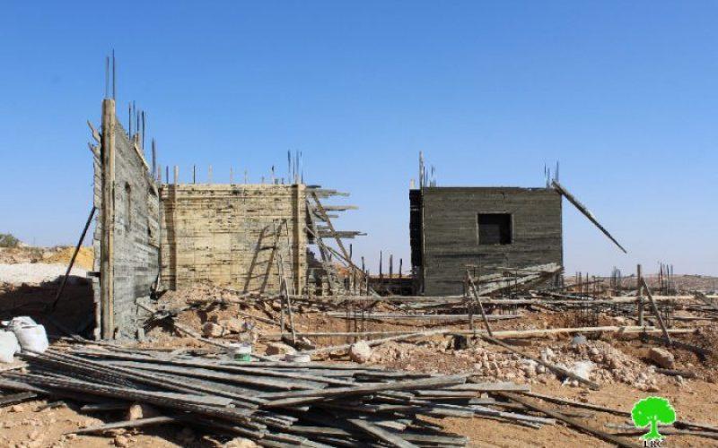 أمر نهائي بهدم منزل في قرية الديرات شرق يطا
