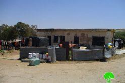 الشروع بتجريف أراضي في محيط أحراش بلدة عرابة وإخطار عائلتين بالرحيل من المنطقة