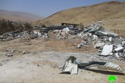 Israeli Occupation Forces demolish structures in village Jericho of Al-Jiftlik