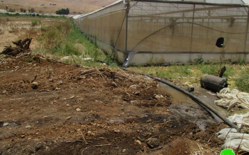 Israeli Occupation Forces ravage agricultural land in Furush Beit Dajan village