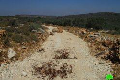 إغلاق الطريق الزراعي الرابط بين بلدة قراوة بني حسان ومنطقة واد قانا