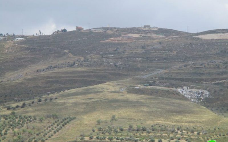New Israeli landfill on lands of Burin village in Nablus governorate