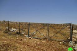 إخطار بوجوب الإخلاء للمحمية الرعوية في خربة الطويل بمحافظة نابلس