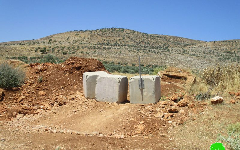 Israeli Occupation Forces close agricultural road and Al- Mughayyir village entrance
