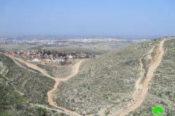 """مخطط لابتلاع أراض جديدة عبر إقامة طريق استعمارية في مستعمرة """" افني حيفتس"""""""