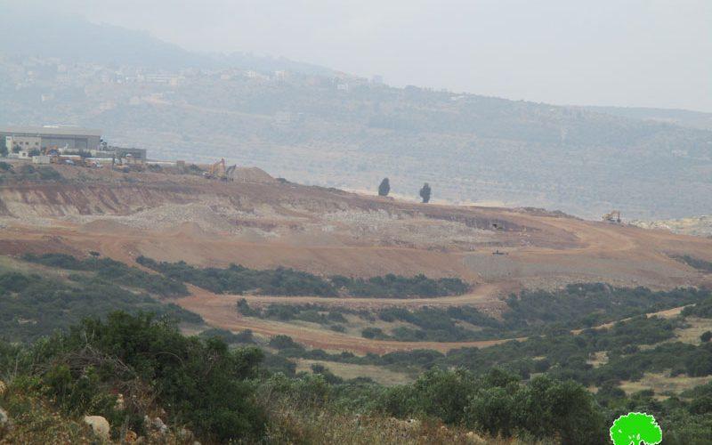 """الشروع بتوسعة المنطقة الصناعية """" شاكيد"""" على أراض قرية العرقة"""