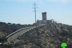 """الاحتلال الاسرائيلي يشرع في توسعة حاجز """" الطيبة"""" العسكري"""