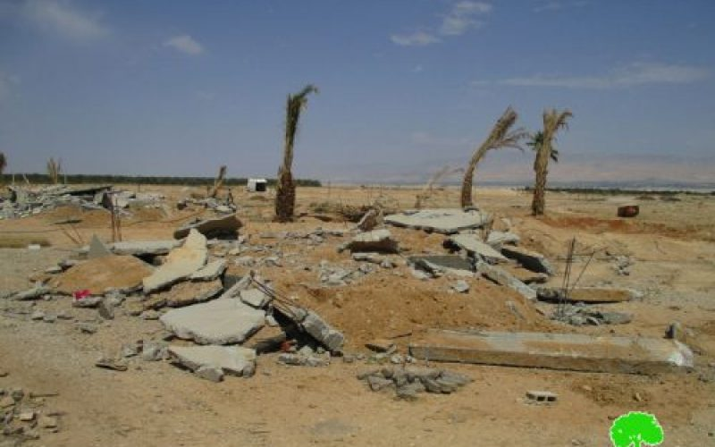 Israeli Occupation Forces demolish three under construction residences in Jericho city