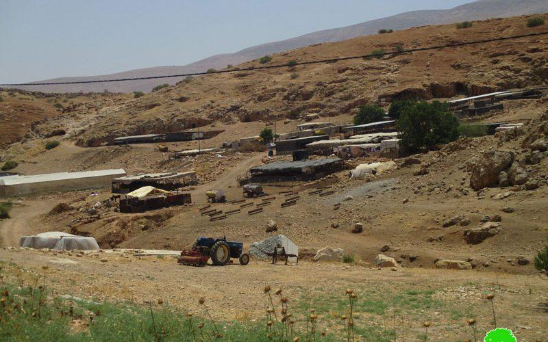 مصادرة خلايا شمسية في خربة الحمة بمحافظة طوباس