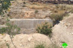 إخطارا بوقف العمل والبناء لبئر مياه في قرية بيت تعمر