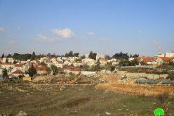 """الإعلان عن مخطط تفصيلي جديد لصالح مستعمرة """" بيت ايل """" على أراض قرية دورا القرع"""