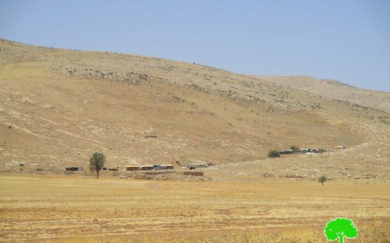 """جيش الاحتلال يعلن منطقة """" خلة حمد"""" منطقة عسكرية مغلقة"""