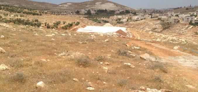 Israeli Occupation Forces notify under construction school of Stop-work in Bethlehem
