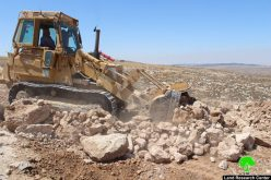 Israeli Occupation Forces notify agricultural road of stop-work in south Hebron